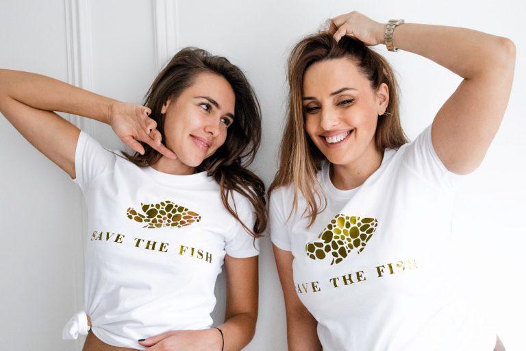 Luxury t-shirt Save the Fish
