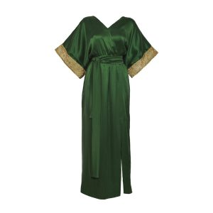Tulum long green luxury caftan