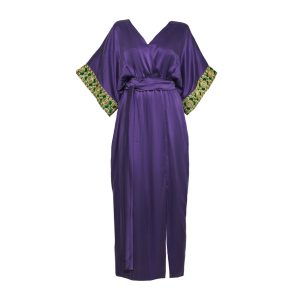 Tulum long purple luxury caftan