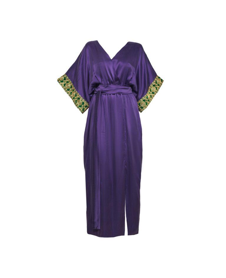 Tulum long purple luxury caftan